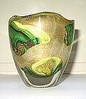 Vintage Murano Archimede Seguso Calcedonio vase