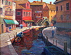 Oil painting by Rockport artist R. Seager (1930 - 2005)