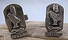 Vintage  Egyptian sterling silver cufflinks