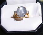 Art Deco 18K gold star sapphire diamond ring