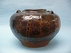 16th Century Burmese Glazed Pottery Spice Jar