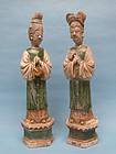 Ming Dynasty Sancai Glazed Court Attendants