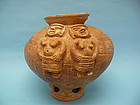 Sinu Pottery Effigy Vessel with Four Female Figures