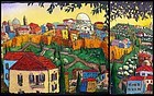 Sunrise Over Jerusalem, Diptych by Jonathan Kis-Lev