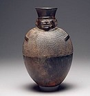 Chimu Pottery Blackware Shaman Vessel