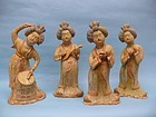 Qing Dynasty Pottery Musicians (Set of Four)