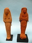Two Egyptian Composition Pottery Ushabti
