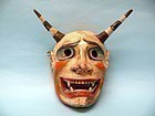 Peruvian Andes Polychrome Ceremonial Dance Masks