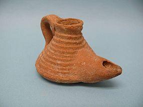 Byzantine Pottery Oil Lamp