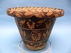 Messapian Painted Pottery Kalathos