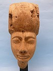 Egyptian Wooded Anthropoid Ka, or Death Mask