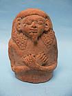 Ptolemaic Votive Pottery Sarcophagus Lid