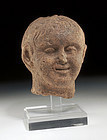 Etruscan Pottery Head of a Youthful Boy