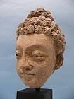 Gandharan Stucco Head of a Boddhisattva