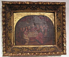 Colonial Cuzquena School Painting, The Last Supper