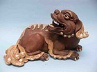 Qing Dynasty Pottery Recumbent Lion