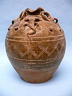 Yuan Dynasty Pottery Frog Pot
