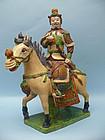 Ming Dynasty Pottery Warrior on Horseback
