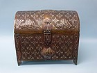 Quran Box, Brass & Silver Inlay from Damascus