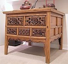 Qing Dynasty Hand Carved Elmwood Shanxi Table