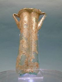 Roman Green Glass Balsamarium