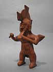 Rare Colima Pottery Warrior Vessel