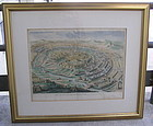 Two Antique Maps of Jerusalem, Teddy Kollek collection