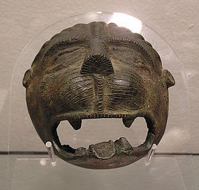 Islamic Medieval Bronze Lion Head Mask