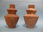 Ancient Thai Double Carinated Pottery Jars