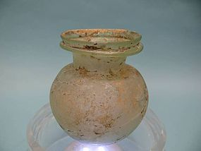 Roman Green Glass Cosmetic Jar