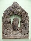 Southern Indian Bodhisattva Wooden Altar Fragment