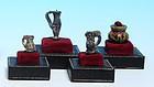 Miniature Byzantine Glass Juglets, Set of Four