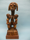 Anye / Cote d'Ivoire Statue of Mother and Twins