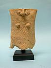 Mesopotamian Pottery Goddess Handle Fragment