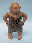 Pueblo, Cochiti Pottery Male Figure with Hair Bun