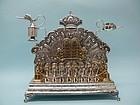 Antique German Silver / Gold Chanukah Lamp