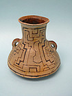 Early 20th Century Shipibo Pottery Amphora