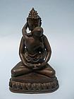 Sino Tibetan Bronze Buddha Shakti Tantric Yab-Yum
