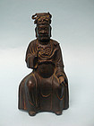 Chinese Bronze Seated Official