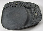 A Very Fine and Rare Large/Old Carved Plum Inkstone