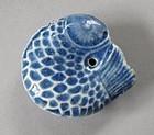 A Very Fine Blue Glazed Fish-Shape Water Dropper
