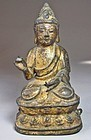 Fine/Rare Gilt Bronze Seated  Buddha Figure of Amitabha