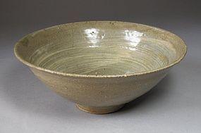 A Fine/Rare White Slip Punchong Tea Bowl-15th C.