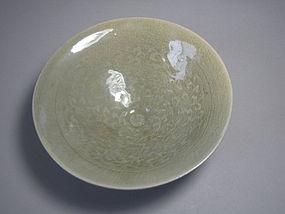 Very Rare and Fine Conical-Shape Celadon Tea Bowl