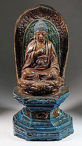 Very Rare/Fine Ceramic Buddha/Mandala/Lotus Stand