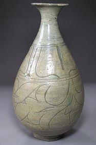 Rare/Fine Sgraffiato Designed Punchong  Ware Bottle