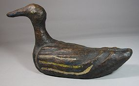 Very Rare/Fine/Large Wood Wedding Duck, Ori-19th C.: