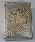 Very Rare Silver Inlaid with a Magpie/Tiger Box/Cover