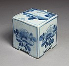A Fine Blue and White Decorated  Water Dropper-19th C.