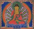 A Very Rare Seated Amitha Buddha Hanging Scroll Painting